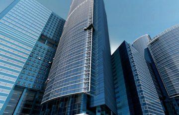 Edificios con vidrios solares