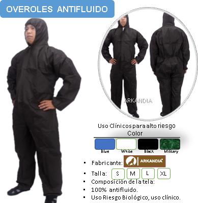 overol antifluido negro
